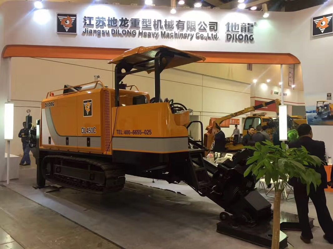 45T Trenchless Pipe Installation Horizontal Directional Drilling / Pipe Pulling Machine